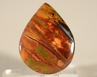 Marra Mamba Tigers Eye Cabochon. Handcrafted USA. Natural Gemstone.