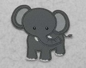 Elephant - MADE to ORDER - Choose COLOR and Size - Tutu & Shirt Supplies - Iron on Applique Patch 6994
