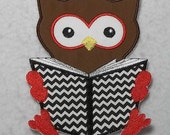 Owl (large) - MADE to ORDER - Choose COLOR - Tutu & Shirt Supplies - Iron on Applique Patch 6829