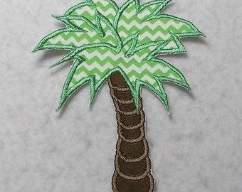 Palm Tree (large) Tutu & Shirt Supplies - fabric iron on Applique Patch 7175