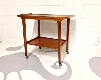 mid century modern bar cart  in teak