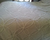 Summer bright white chenille coverlet wedding pattern and more