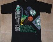 Vintage 1991 BOSTON CELTICS Pride All-Around NBA Basketball T-Shirt Tee 1990's Retro Never Worn