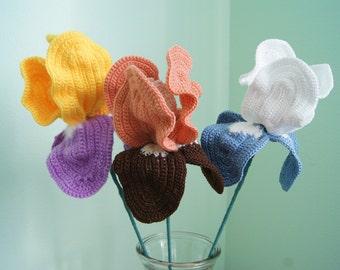 Flowers irises,crochet pattern