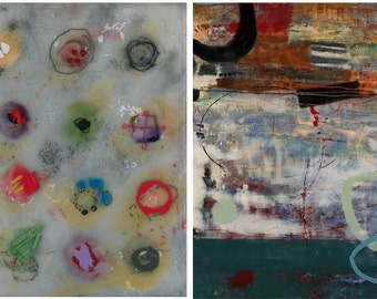 2 pack - TEN Notecards - Reproductions of Encaustic & Mixed Media Paintings by Pamela Caughey