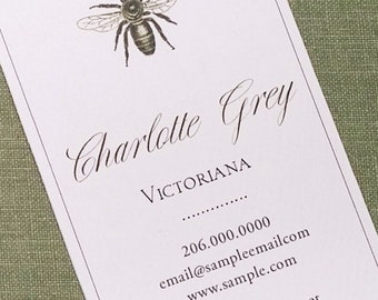 Elegant Bee,Royal Bee,Bee motif Business card, Stylist - Set of 50