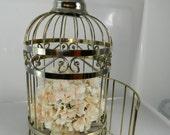 Vintage Brass Birdcage Hanging Birdcage, Decorative Birdcage, Wedding Decor
