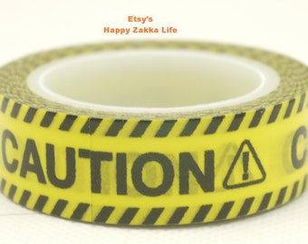 Warning Signs - CAUTION - Japanese Washi Masking Tape - 11 yards