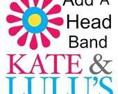 Add a headband - Headband listing