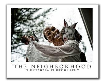 The Neighborhood Horror Dark Art Still Print - NikytaGaia Photography