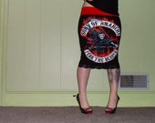 Sons Of Anarchy - SAMCRO Reaper - Pencil Skirt