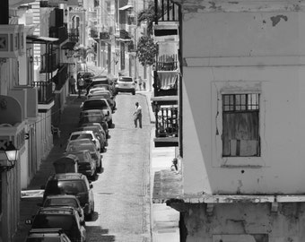 Black and White Prints | Puerto Rico Street Art Photography | Architectural Photography Print | Rustic Industrial Home Decor | Urban Art