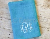 XLarge Personalized Beach Towel - Plush Beach Towel - Embroidered Beach Towel - Solid Beach Towel - Monogrammed Beach Towel
