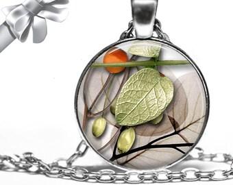 Ikebana Leaf Composition Necklace Pendant - Choose Size