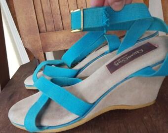 QUALI-CRAFT    ///    Canvas 70s Wedge Sandals