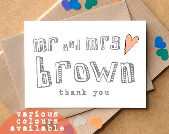 Personalised Thank You Wedding Cards - thank you cards - personalised wedding cards - mr and mrs wedding cards - gay wedding thank you cards