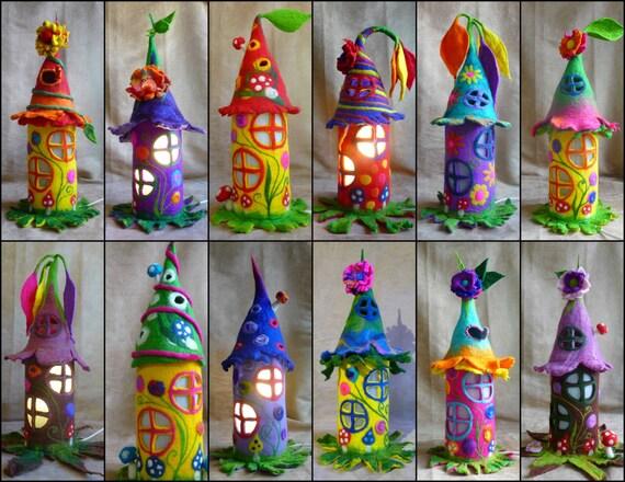 items similar to felted fairy lamp bedside lamp night light handmade wool felt fairy light. Black Bedroom Furniture Sets. Home Design Ideas