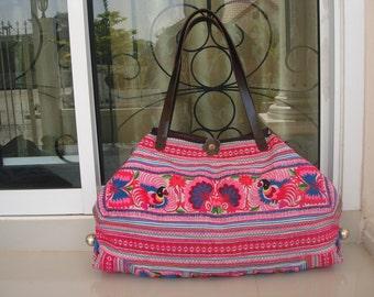 Tote -Tribal-Handmade Ethnic Hmong Bag  012