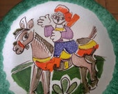 De Simone Italian Majolica Pottery Mid Century Cubist Cubism Asbstract Expressionism Pop Art Giovanni DeSimone Donkey