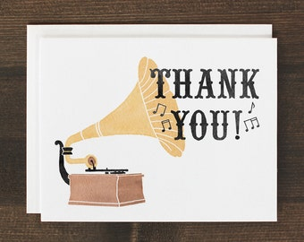 Thank You Card Gramophone Music