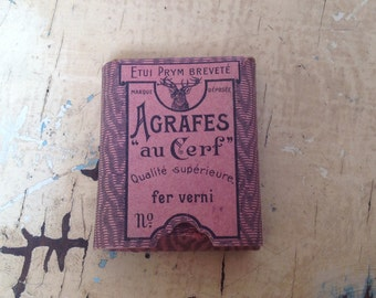 Vintage French package with hooks and eyes
