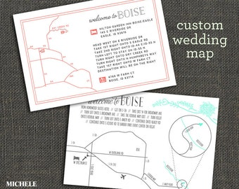 WEDDING MAP - Customized for your event - PRINTABLE