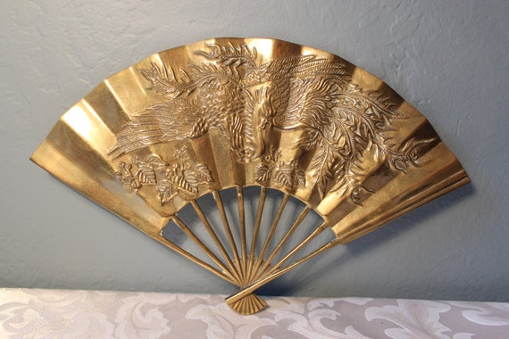 Decorative brass fan shape wall decor - Wall fans decorative ...