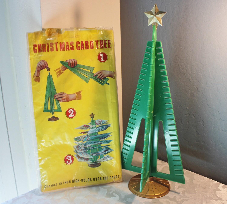 vintage christmas tree card holder christmas by