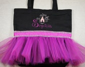 Tutu Ballet Bag, Flower Girl Gifts, Personalized Gifts, Tutu Bags, Ballet Bags, Dance Bags, Personalized Girls Dance Bags, Tutu, Ballerina