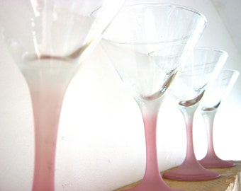 Four 1950's Martini Glasses