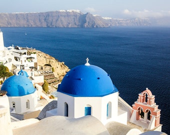 Santorini Caldera View Photograph - Gallery Wrapped Fine Art Canvas Print - Multiple Sizes
