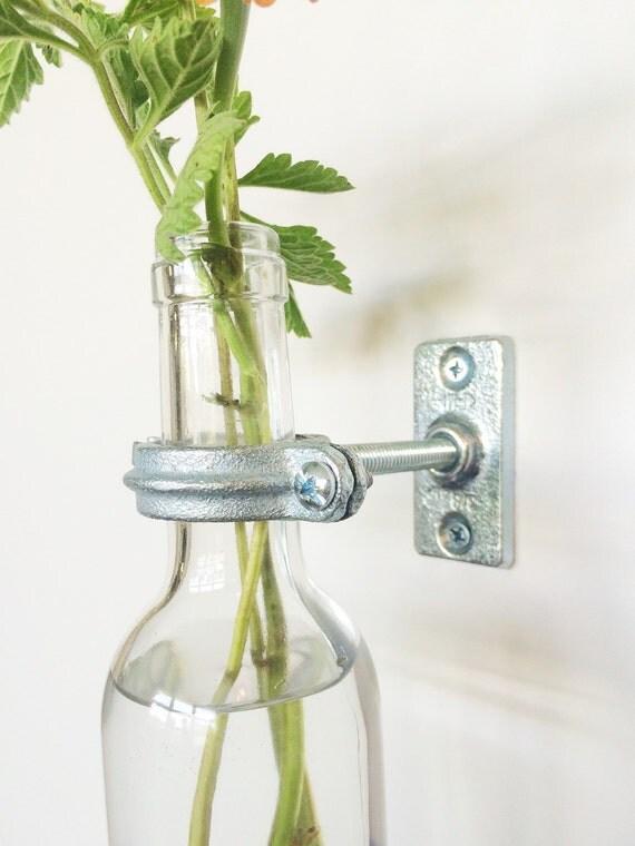 Hardware Only 2 Wine Bottle Wall Flower Vase Kits