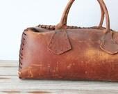 Large Vintage Leather Doctor's Bag