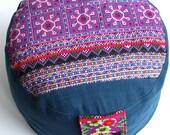 Ø 50cm Blue Pink Lounge Cushion Floor Cushion Relax  ZAFU  & POUF Original Handmade from Germany