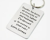 Father of the groom gift - Bride's gift to Father-of-the-groom - Handmade keychain gift for father in law