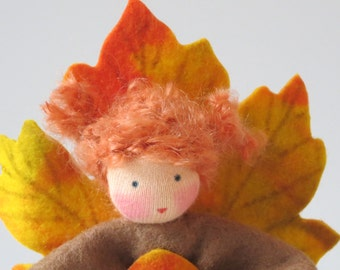 Autumn Fairy  - Flower Child - Waldorf Inspired - Nature Table