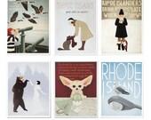 Postcard Variety Pack, Set of 6