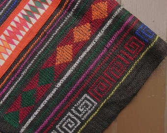 Tribal embroidery textile for DIY project // material // fabric // craft // hmong // boho  // decorate // artisanal // unique // OOAK
