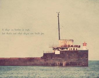 Abandoned Ship, Shipwreck Art, Oceanside Art, Seaside Decor, Gift for Sailor, Nautical Art, Nautical Wall Art, Ship Photography, Seaside Art