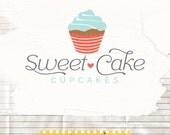 Cupcake Logo Premade Business Logo and Watermark Bakery Logo