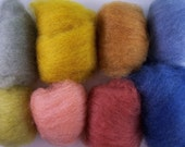 natural dyed wool batts