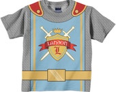 Personalized Knight Shirt, Boys Medieval Knight Birthday Shirt, Boy's Knight in Shining Armor T-Shirt, Prince Birthday Shirt, Knight Costume