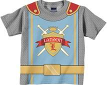 Personalized Knight Shirt, Boys Medieval Knight Birthday Shirt, Boy's Knight in Shining Armor T-Shirt, Prince Birthday Shirt, Knight Costume