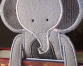 Bookmark - Animal - Elephant  - Felt Book Mark - Kids and Book Lovers - Personalization - Personalized