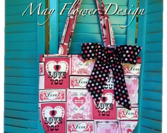 Valentine Pink and Black Tote bag