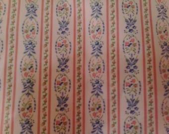 Floral stripey fabric
