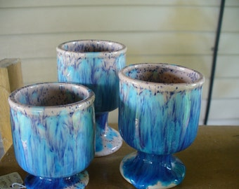 Blue Shaded Votive Holders