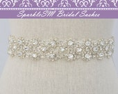 Bridal Sash, Wedding Sash, Bridal Belt, Crystal Sash, Rhinestone Sash, Jeweled Belt, Bridal Belt, Wedding Gown Belt Bridal Belt - Kenzie