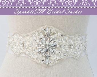 Rhinestone Bridal Belt Sash, Crystal Wedding Bridal Belt, Bridal Dress Sash Belt, Wedding Dress Sashes, SparkleSM Bridal Sashes, Victoria