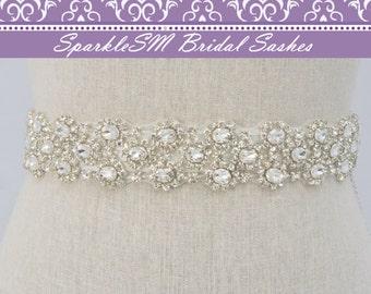 Bridal Sash, Wedding Sash, Bridal Belt, Crystal Sash, Rhinestone Sash, Jeweled Belt, Bridal Belt, Wedding Gown Belt Bridal Belt - Kenzie